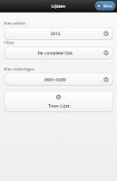 Screenshot of Top 2000 Database