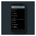 Black MTRL BlueGrey CM12 Theme v3.6