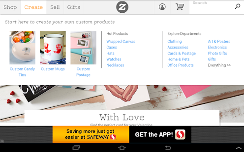 Zazzle - screenshot thumbnail