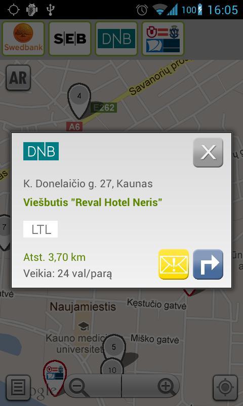 Lietuvos bankomatai - screenshot