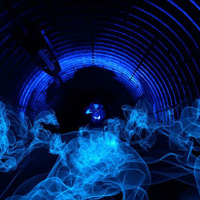 The Blue Witch by Hitler Tombaan - Abstract Light Painting ( heatlarx, light painting, witch, light graffiti, larxart, tunnel )