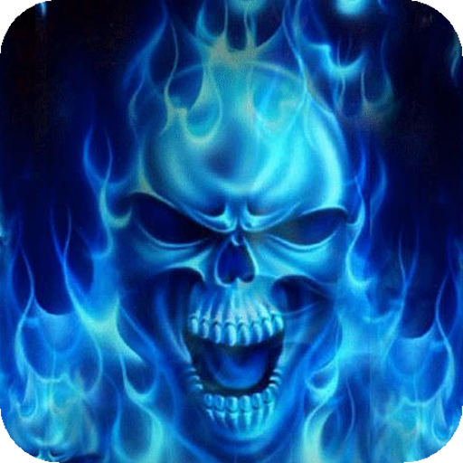 Skulls in a Blue Flame Live WP
