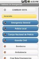 Screenshot of Telefonos de Emergencias