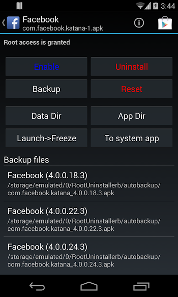 Root Uninstaller Pro- screenshot