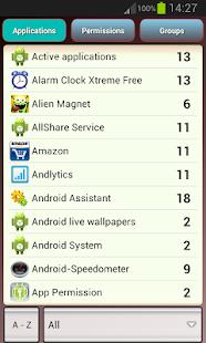 App Permission screenshot