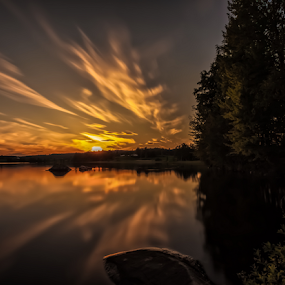 Hope for tomorrow by Rose-marie Karlsen - Landscapes Sunsets & Sunrises ( clouds, sunset, lake, sunset light,  )