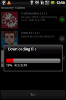 Screenshot of 1-click Recovery Flasher