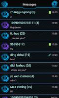 Screenshot of GO SMS PRO FUTUREWORLD THEME
