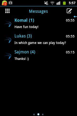 GO SMS Pro的主題冰最小 GO SMS Pro