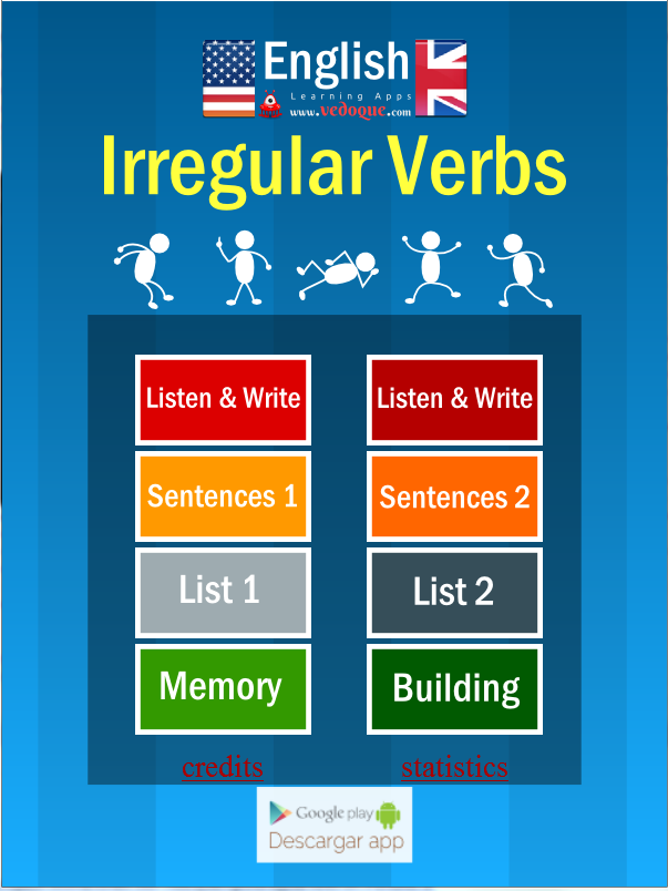 Vedoque Irregular Verbs- screenshot