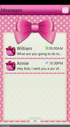 PolkaDotBows GO SMS THEME