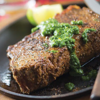 Steak with Three-Herb Chimichurri Sauce