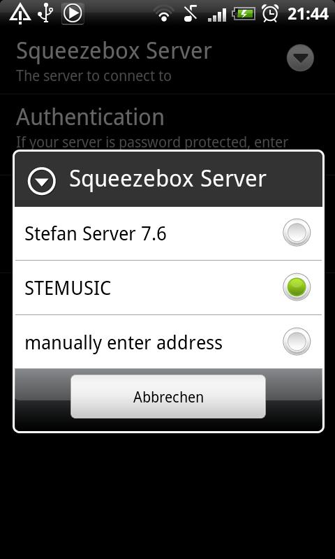 SqueezePlayer Screenshot 1