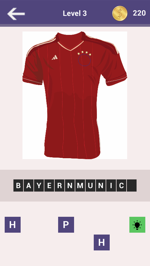 Football Clubs Jersey Quiz - screenshot