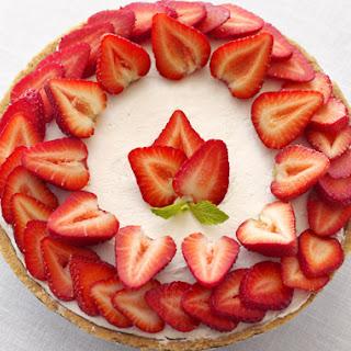 No-Bake Strawberry Cheesecake.
