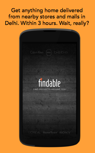 Findable: Home Delivery App - screenshot