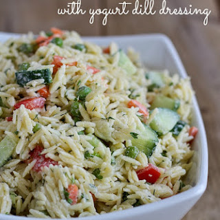 Orzo Salad Recipe with Yogurt Dill Dressing