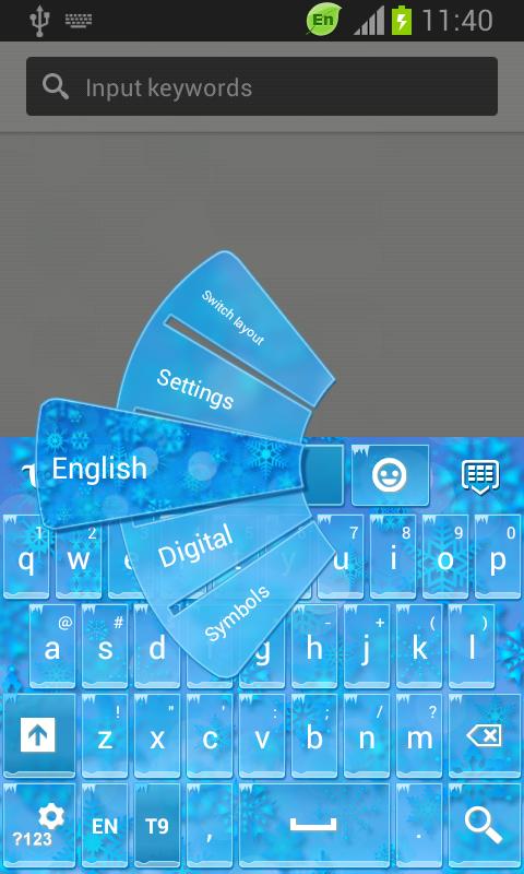 GO Keyboard Winter Themes- screenshot
