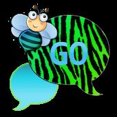GO SMS - Light Blue Zebra