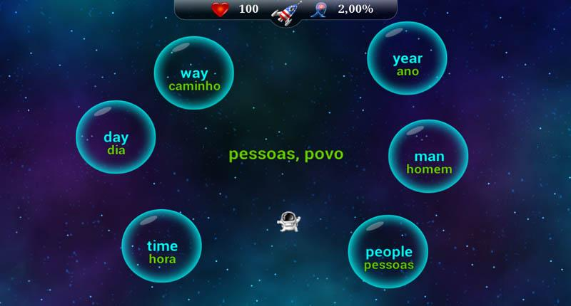 English Words for Portuguese - screenshot