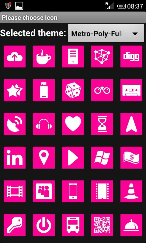 MetroPoly MAGENTA (Go Theme)- screenshot