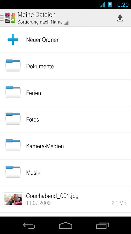 Mediencenter - Telekom Cloud - screenshot