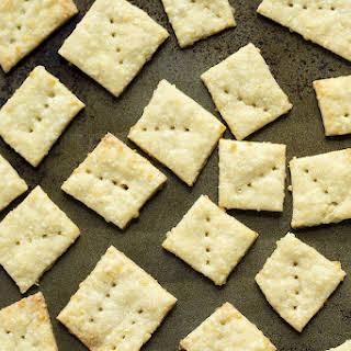 Homemade Parmesan Crackers.