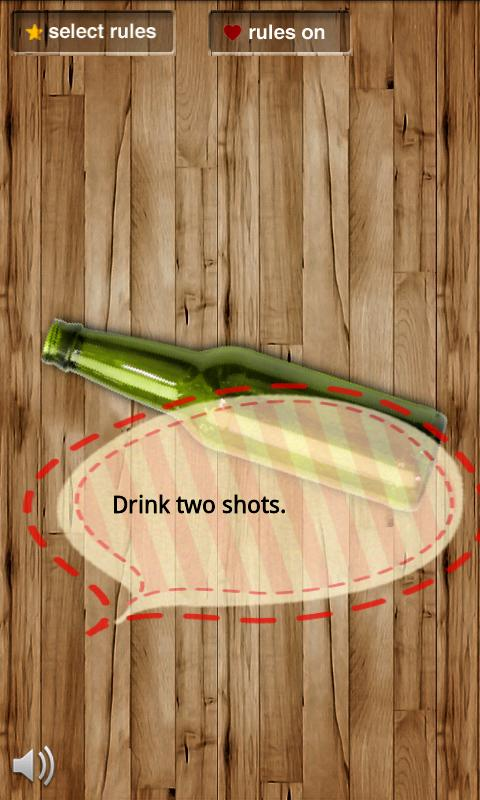 Spin the bottle (make rules) - screenshot