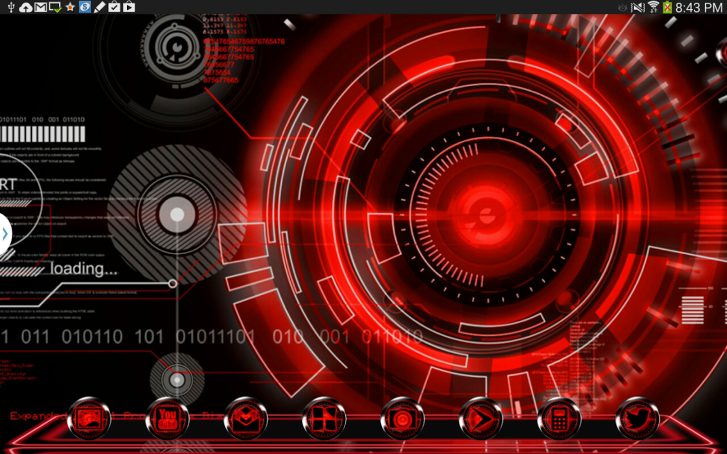 Red krome next theme iconpack android apps on google play - Google chrome 3d home design app ...