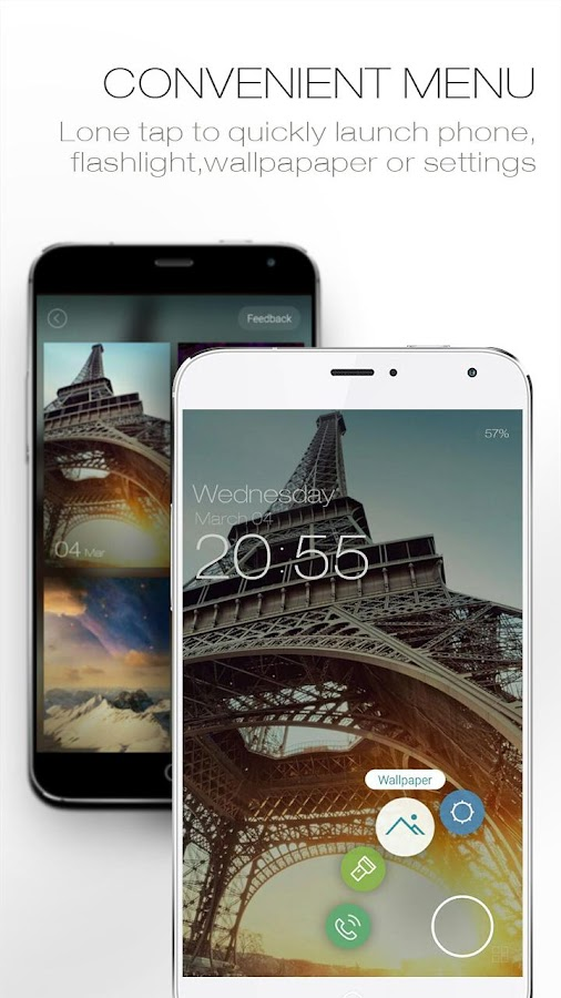 ZUI Locker-Elegant Lock Screen- screenshot