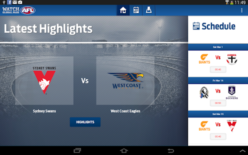 Watch AFL Global Pass - screenshot thumbnail