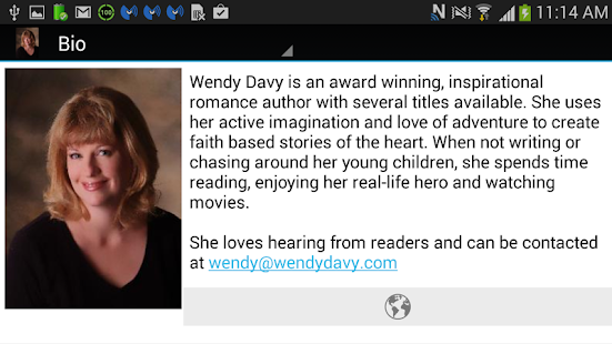 Author Wendy Davy- screenshot thumbnail