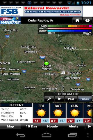 KCRG Weather - screenshot