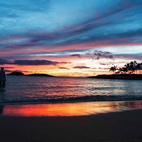 Ko Olina beauty by Larry Crawford - Landscapes Sunsets & Sunrises ( sunset, beach, landscape, hawaii,  )