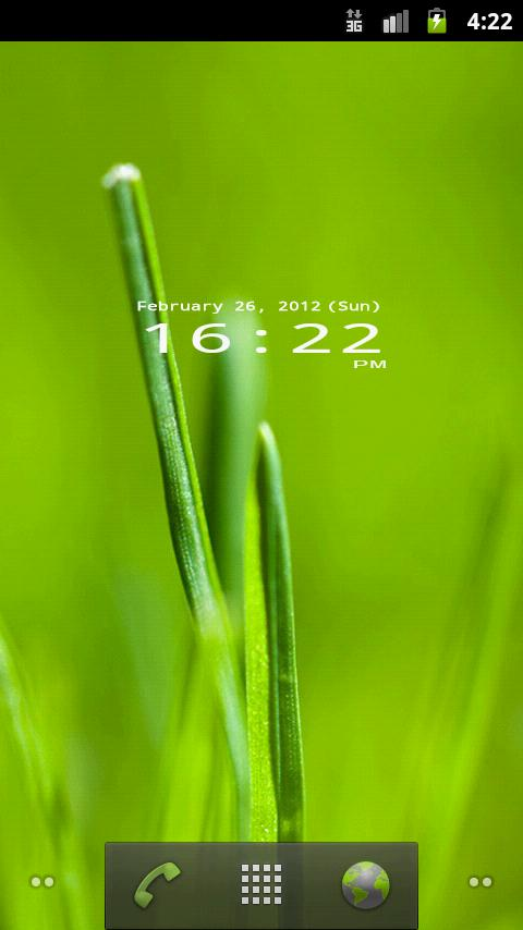 Mono Clock Widget- screenshot