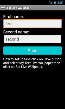 My Text Live Wallpaper 2.2 screenshot 10233