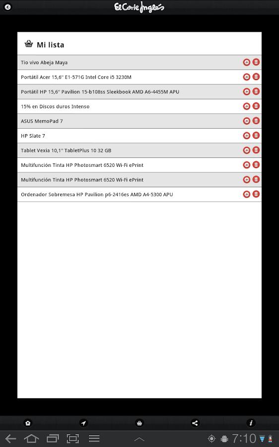 Publicaciones El Corte Inglés- screenshot