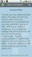 Screenshot of L-Lingo Learn French Pro
