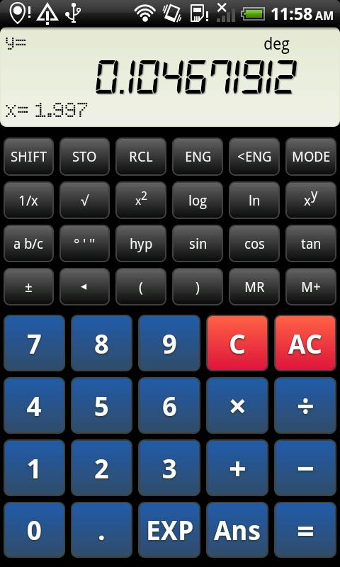 Droid Calc- screenshot