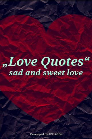Love Quotes sad and sweet love- screenshot