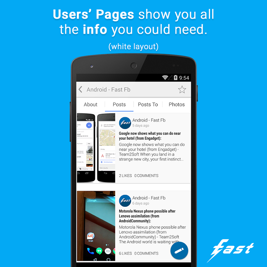 Fast (client for Facebook ©) - screenshot