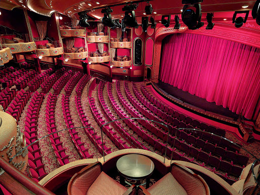Cunard-Queen-Victoria-Royal-Court-Theater - The Royal Court Theater aboard Queen Victoria offers guests a chance to enjoy a choice of musical productions and classic Shakespeare performances.