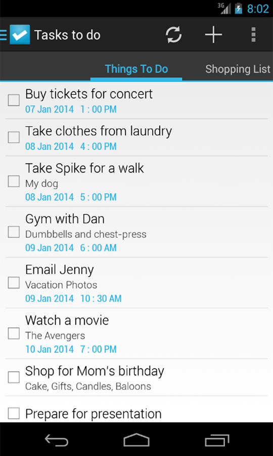 Tasks To Do : To-Do List - screenshot