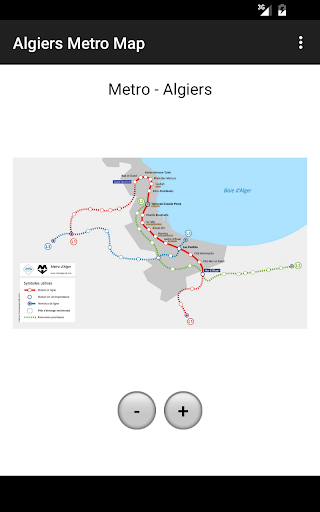 Algiers Metro Map