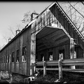 Emert's Covered Bridge by Larry Landry - Buildings & Architecture Bridges & Suspended Structures ( southern living, covered bridge, pigeon forge, tennessee, east tennessee, bridges )