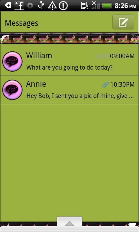 GO SMS THEME/Watermelon Shoes- screenshot