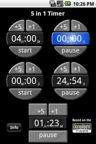 5 in 1 Kitchen Timer- screenshot