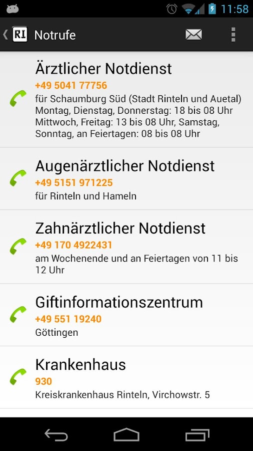 Rinteln App- screenshot