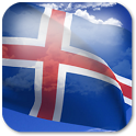 3D Iceland Flag + icon