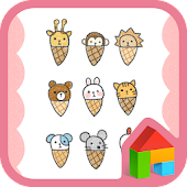 Animal Ice cream dodol theme